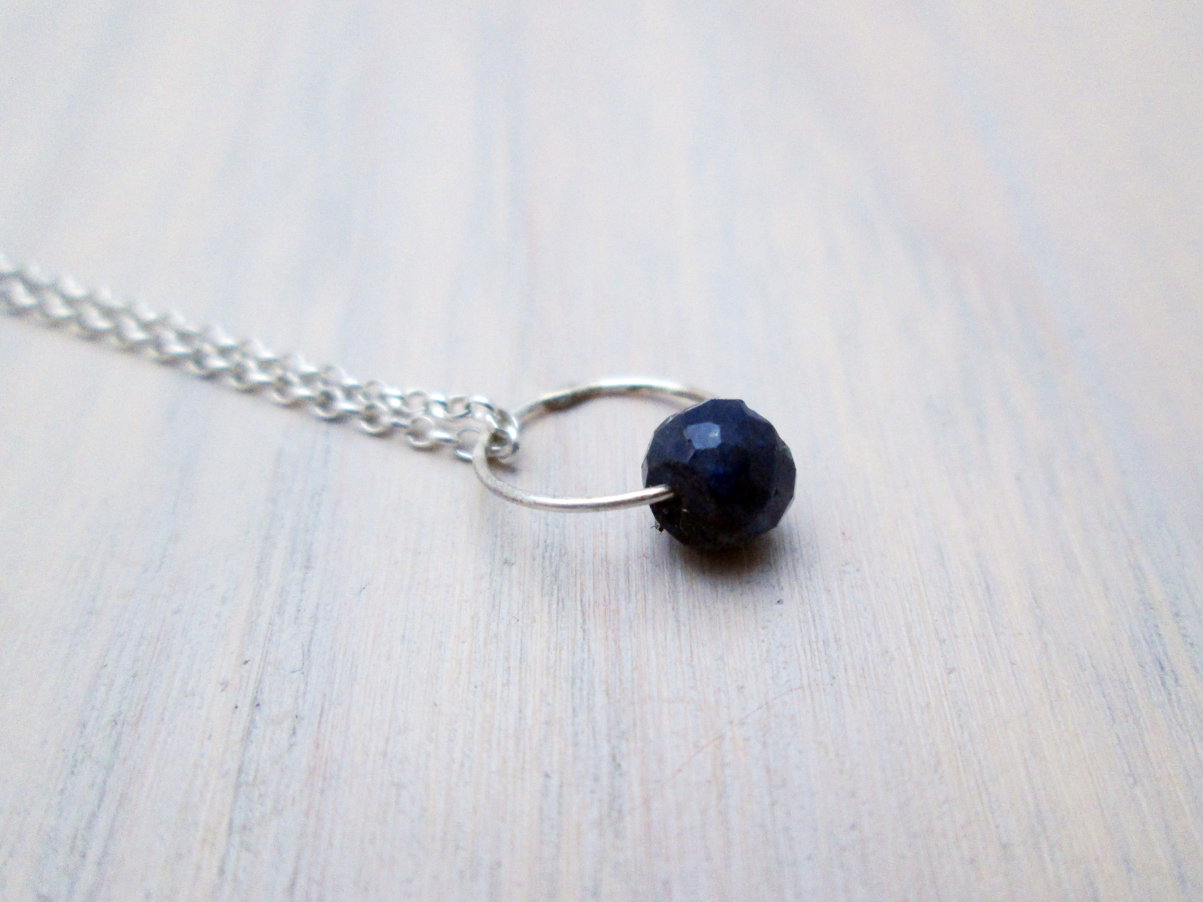 Circle charm birthstone necklace pearl the chestnut forge for Sapphire studios jewelry reviews