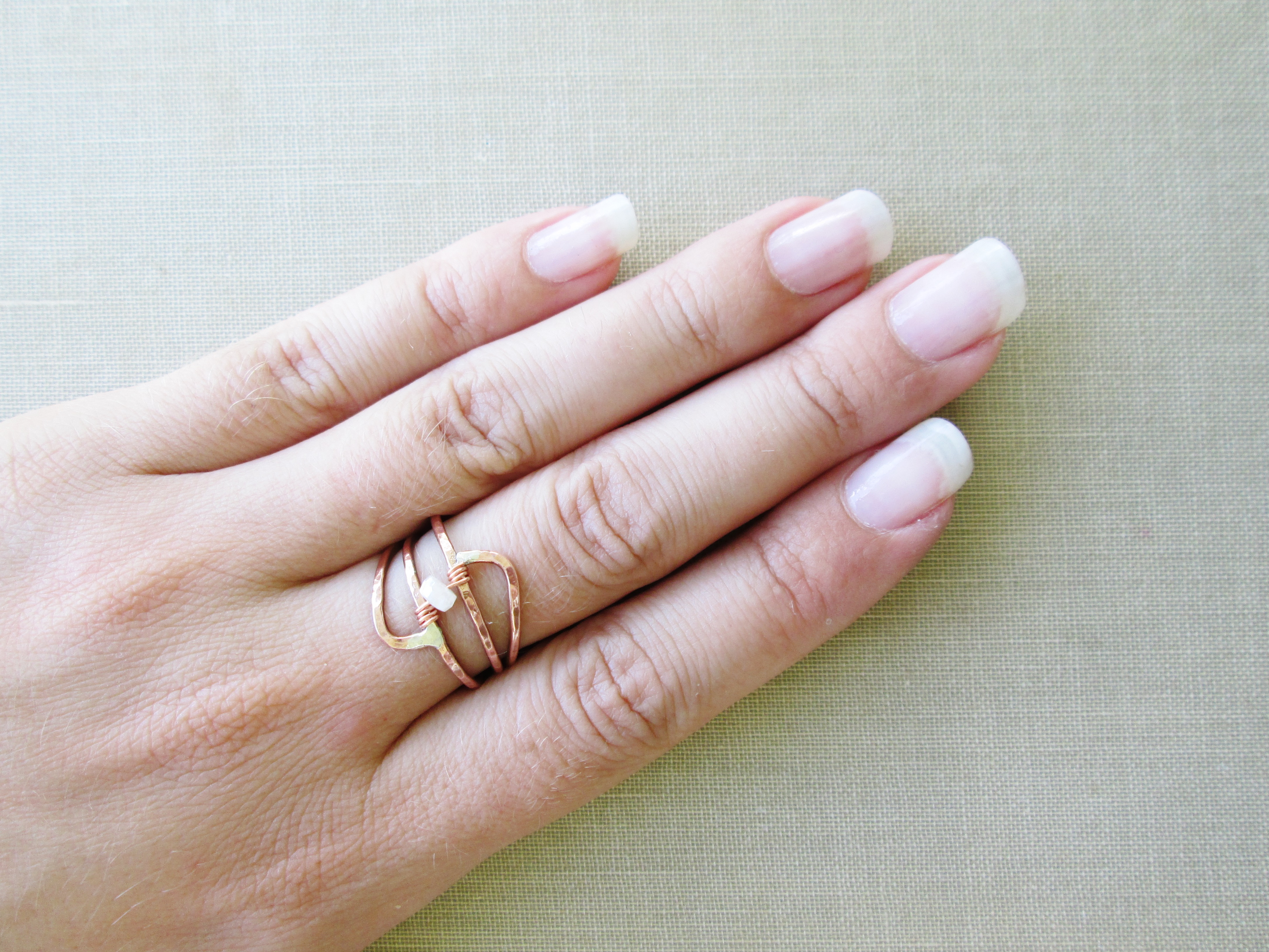 Copper parallel coil birthstone ring the chestnut forge for Sapphire studios jewelry reviews