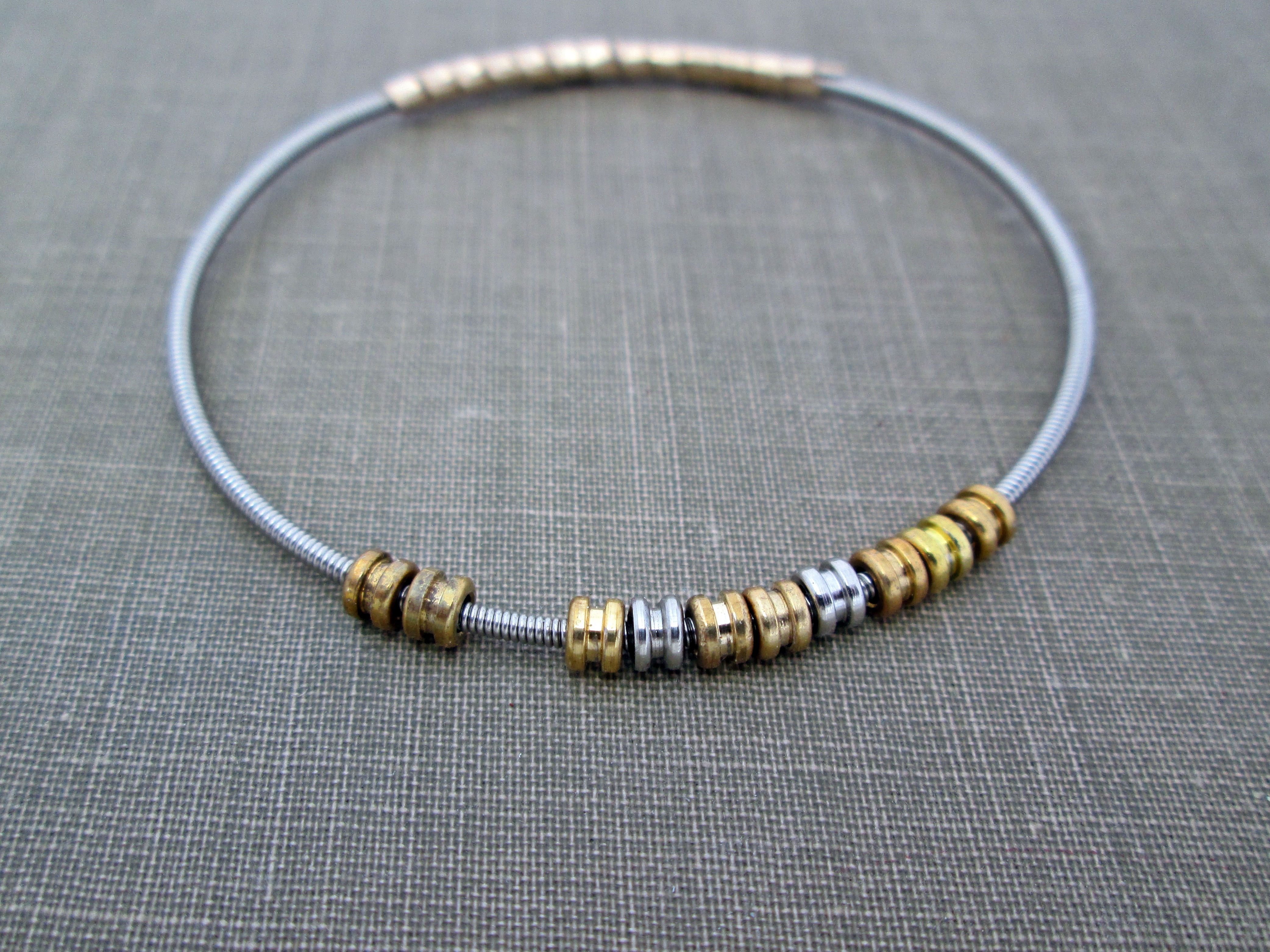 Ball End Bass Guitar String Bracelet The Chestnut Forge